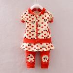 Pre-order ชุดเสื้อ+กางเกง / แพ็คละ 4 ตัว / Size 80-105 /สีแดง(สินค้าลายลิขสิทธิ์)