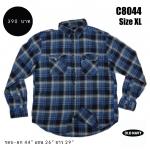 C8044 เสื้อเชิ้ตลายสก๊อต แนวสตรีท OLD NAVY สีน้ำเงิน