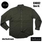 C4002 เสื้อลายสก๊อตผู้ชายสีเข้ม VANHEUSEN