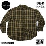 C6045 เสื้อลายสก๊อตผู้ชาย สีน้ำตาลเหลือง FADED GLORY