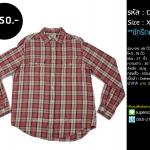 C2088 เสื้อลายสก๊อต ผู้ชาย ชมพู