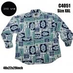C4051 เสื้อเชิ้ตผู้ชาย ลายกราฟฟิก