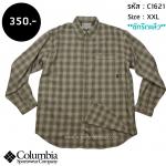 C1621 เสื้อลายสก๊อต ผู้ชายสีครีม Columbia