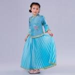 Pre-order ชุดอาเซียน / Size 130 / สีฟ้า