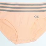 กางเกงในหญิง ลายเส้น Logo OK สีส้ม