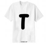 เสื้อยืด ตัวอักษร T