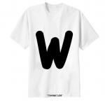 เสื้อยืด ตัวอักษร W