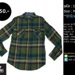 C2058 เสื้อลายสก๊อต สีเขียว Mossimo