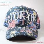 หมวกแก๊ปแฟชั่น ลาย Tokyo สีดำ