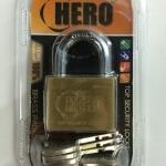 กุญแจทองเหลือง ระบบลูกปืน Hero (ลูกกุญแจ 6 ดอก)