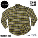 C7033 เสื้อลายสก๊อตสีเหลือง NAUTICA