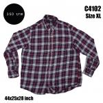 C4102 เสื้อลายสก๊อตสีแดง ผ้าสำลี