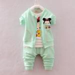 Pre-order ชุดเสื้อ+กางเกง / แพ็คละ 4 ตัว / Size S M L XL /สีเขียวอ่อน(สินค้าลิขสิทธิ์)