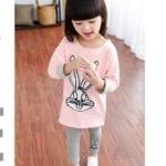 Pre-order เสื้อ+กางเกง / แพ็คละ 5 ชุด /สีชมพูดิสนี่(สินค้าลิขสิทธ์)