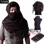 ผ้าพันคอชีมัค Shemash (เนื้อผ้า Viscose) : สีน้ำตาล-ดำ CV008