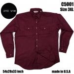 C5001 เสื้อเชิ้ตสีแดง ไซส์ใหญ่ Made in U.S.A