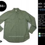 C2283 เสื้อเชิ้ต สีเขียว ผ้าบาง กระดุมมุก OLD NAVY ไซส์ใหญ่