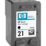 ตลับหมึกดำ HP 21 Black มีหมึกพร้อมใช้งาน ใช้กับพริ้นเตอร์ HP 1400 1402 1410 3920 3940 1360 1460 1550 1560 2360 2460 370 380 2120 2179 2180 2235 2275 2276 2280 4185 4355