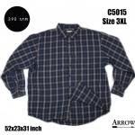 C5015 เสื้อเชิ้ตลายสก๊อต สีเข้ม ไซส์ใหญ่ Arrow