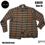 C4029 เสื้อเชิ้ตลายสก๊อตชาย Arrow