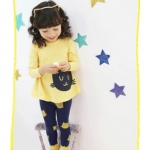 Pre-order เซทเสื้อ+กางเกง / แพ็คละ 5 ชุด /สีเหลือง