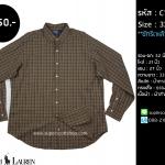 C1070 เสื้อเชิ้ตลายสก๊อต สีน้ำตาล Ralph Lauren ไซส์ใหญ่