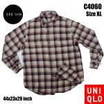 C4060 เสื้อลายสก๊อตผู้ชาย Uniqlo