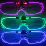 แว่นตามีไฟ LED กระพริบ 3 โหมด กรอบแว่นเป็นพลาสติกใส