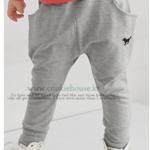 กางเกงเด็กทรงฮาเร็ม สีเทา ยกแพ็ค 5 ตัว (ราคา 140 บาท/ตัว) ขนาด 100-140
