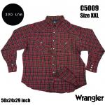 C5009 เสื้อลายสก๊อต ผู้ชาย สีแดง Wrangler