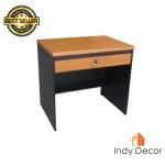 โต๊ะทำงาน 1 ลิ้นชัก ขนาด 80 ซม.รุ่น Indy-ฺD80 สีเชอรี่/ดำ (หน้าโต๊ะPVC)