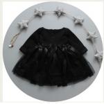 Pre-order เดรส / แพ็คละ 4 ตัว / Size80-110 /สีดำ
