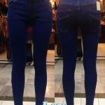 กางเกงยีนส์ สกินนี่ ขาเดฟ ผ้ายีนส์ยืด ผู้หญิง มี 4 สี กรม
