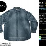 C2256 เสื้อลายสก๊อตสีฟ้า Columbia ไซสใหญ่