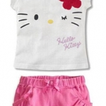 ชุดเด็กผู้หญิง เสื้อลายคิตตี้สีขาวกับกางเกงสีชมพู ยกแพ็ค 5 ชุด (ราคา 180 บาท/ชุด) ขนาด 100-140