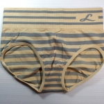 กางเกงในเอวสูง กางเกงในขอบใหญ่ L เส้นบางทั้งตัว สีเนื้อ