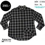C1362 เสื้อลายสก๊อตสีดำ Arrow ไซส์ใหญ่
