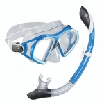 DESCRIPTION • The Adventure Combo is designed to fit most adults and provides good quality at affordable prices. • PSI Adventure silicone skirt mask • PSI Adventure PVC snorkel with purge valve and dry top • PSI carrying bag