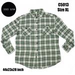 C5013 เสื้อลายสก๊อต สีเขียวอ่อน