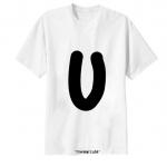 เสื้อยืด ตัวอักษร U
