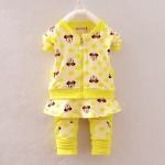 Pre-order ชุดเสื้อ+กางเกง / แพ็คละ 4 ตัว / Size 80-105 /สีเหลือง(สินค้าลายลิขสิทธิ์)