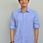 ME011 เสื้อเชิ้ตผู้ชายสีฟ้า