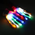 ถุงมือเรืองแสง ไฟกระพริบ 8 โหมด ถุงมือโครงกระดูก
