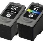 ตลับหัวพิมพ์ Canon 40+41 ซื้อแพ็คคู่ 2 ตลับ คุ้มกว่า ในราคา 250 บาท