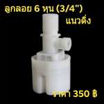"""ลูกลอยเติมน้ำ แท็งค์น้ำ Juny ขนาด 6 หุน (3/4"""") แนวดิ่ง"""