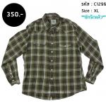 C1296 เสื้อเชิ้ต ลายสก๊อต ผู้ชาย ทรง Western Vintage