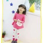 Pre-order เซทเสื้อ+กางเกง / แพ็คละ 5 ชุด /สีชมพู