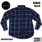 C5055 เสื้อลายสก๊อตผู้ชาย สีน้ำเงิน FADED GLORY