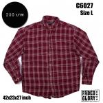 C6027 เสื้อลายสก๊อตสีแดง FADED GLORY