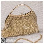 bs0016 กระเป๋าคลัช สีทอง กระเป๋าออกงานพร้อมส่ง ราคาถูกกว่าเช่า แบบสวยๆ ดูดีเหมือนดาราใช้